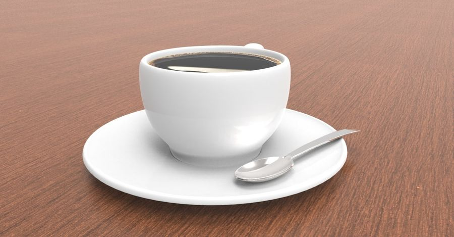 coffe cup royalty-free 3d model - Preview no. 4