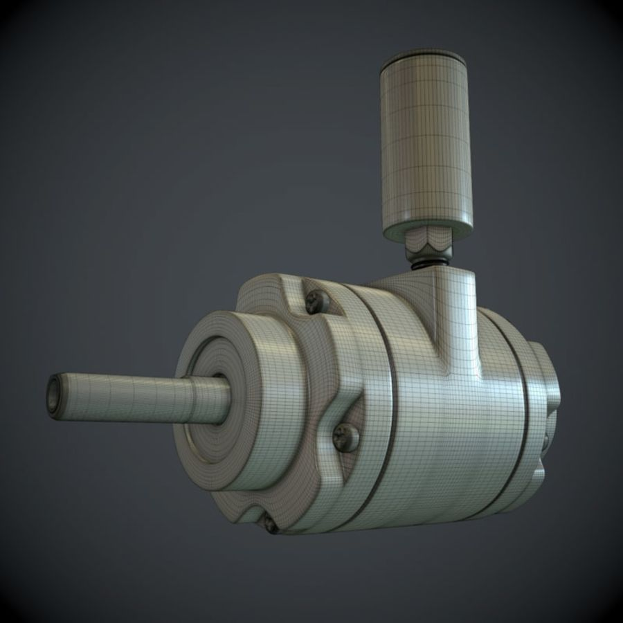 Воздушный мотор royalty-free 3d model - Preview no. 6