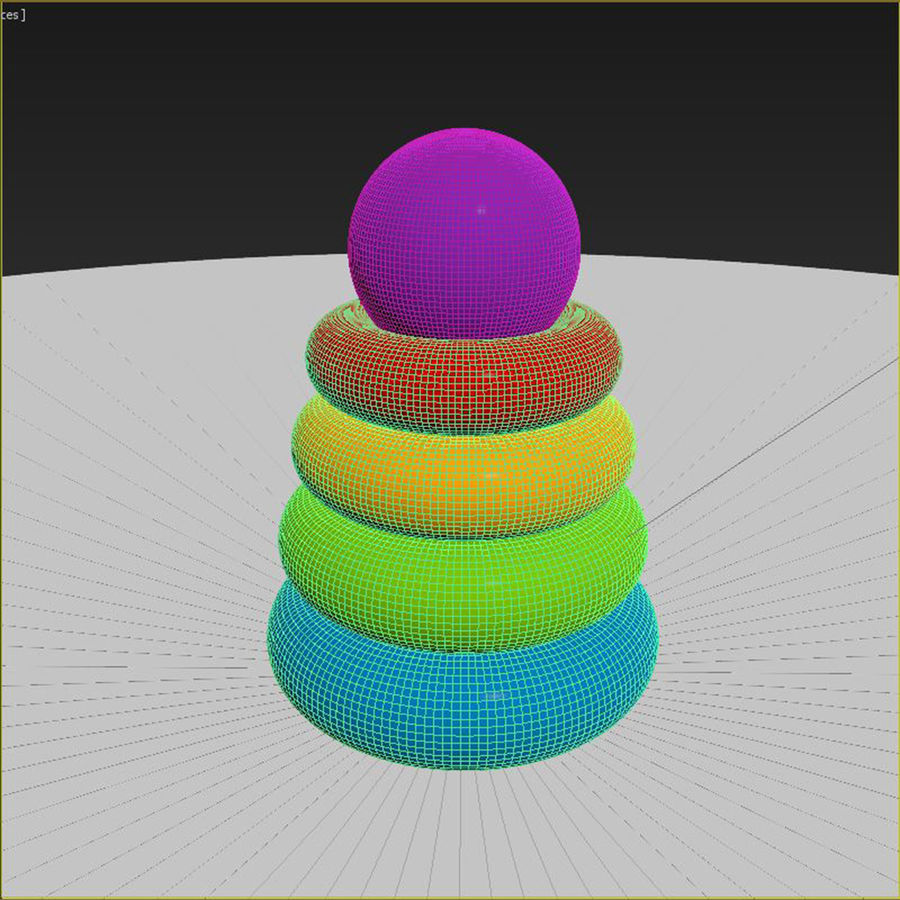Toy pyramid royalty-free 3d model - Preview no. 6