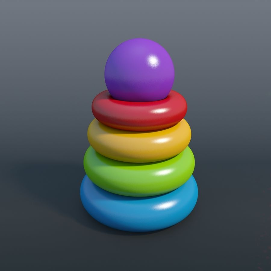 Toy pyramid royalty-free 3d model - Preview no. 2