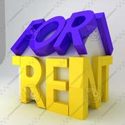 For Rent Icon 3d model