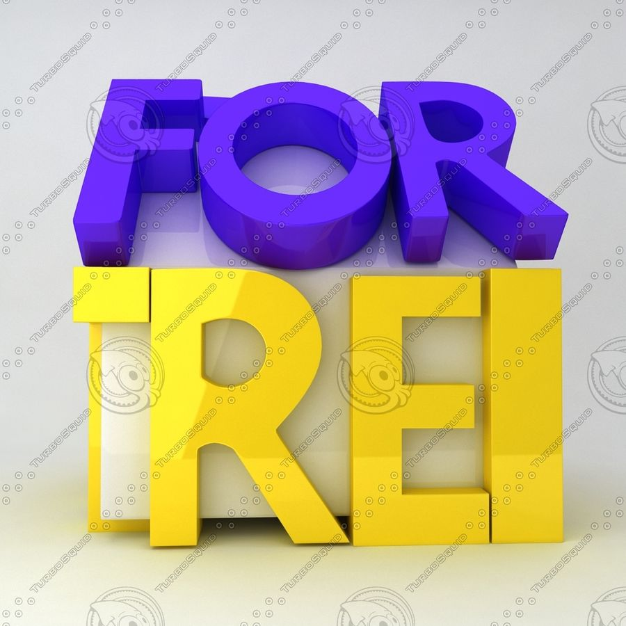 For Rent Icon royalty-free 3d model - Preview no. 2