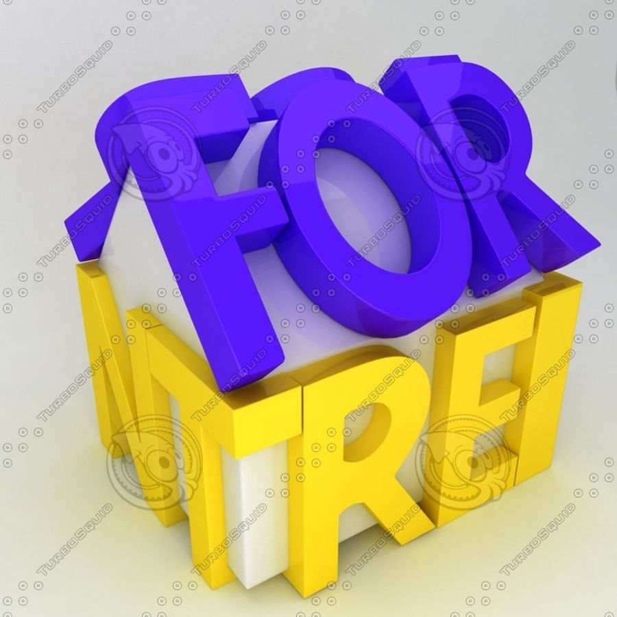 For Rent Icon royalty-free 3d model - Preview no. 3