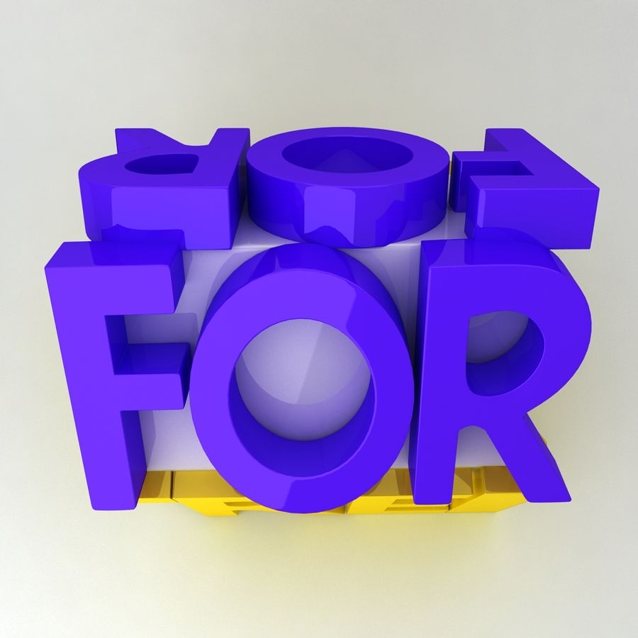 For Rent Icon royalty-free 3d model - Preview no. 4