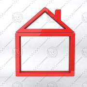 Icono de marco de casa modelo 3d