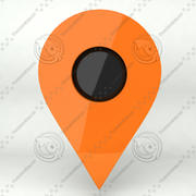 Map Location Marker Icon 3d model