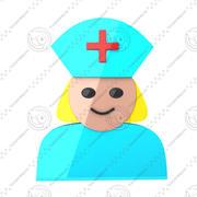 Icono de la enfermera modelo 3d