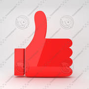 Thumb Web Icon 3d model