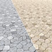 Stone Pavement Sett #1 3d model
