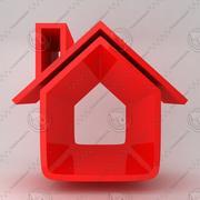 Icono de la casa 8 modelo 3d