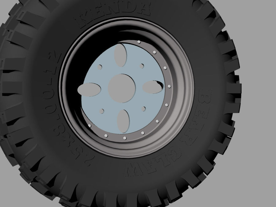 Tire royalty-free 3d model - Preview no. 6