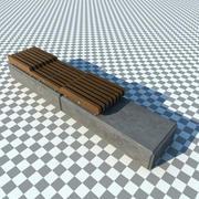 concrete_bench_vray 3d model