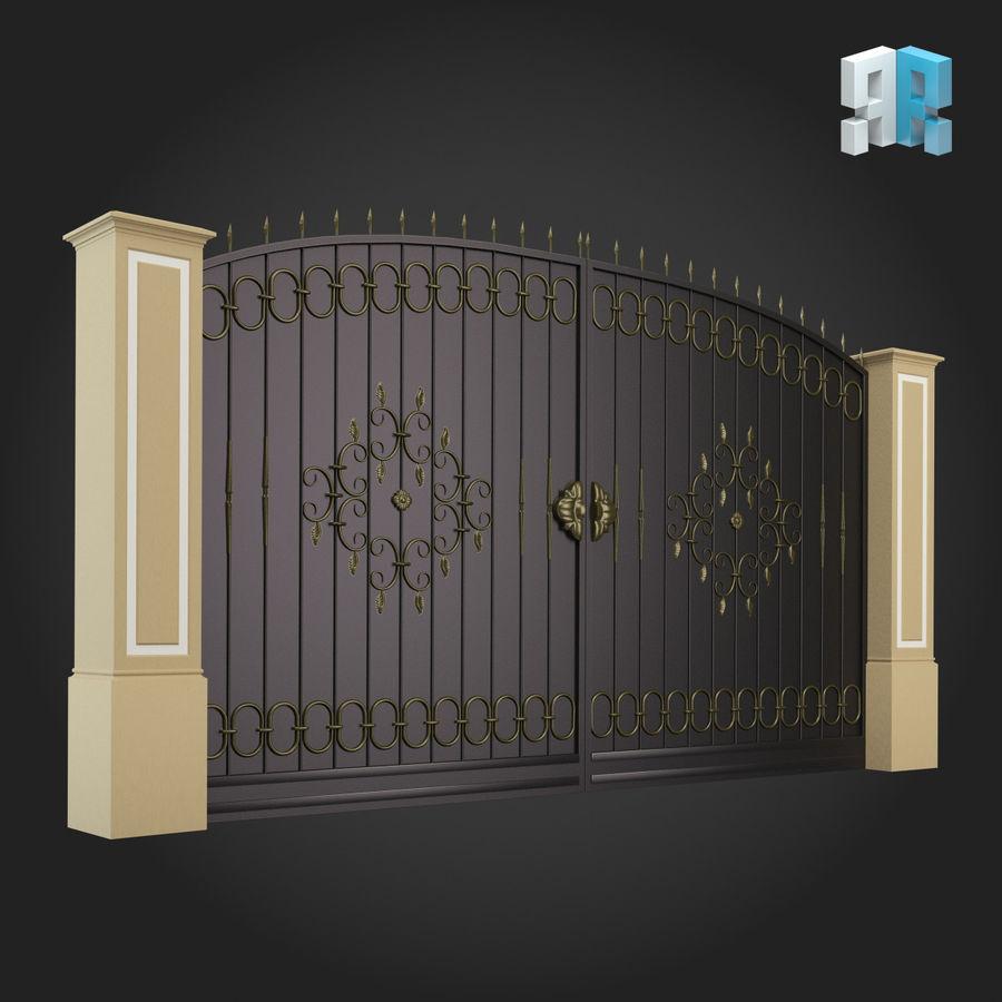 Gate 001 royalty-free 3d model - Preview no. 3