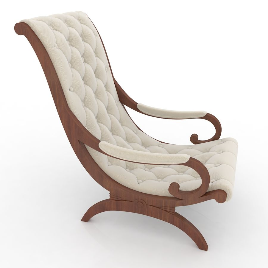 fauteuils royalty-free 3d model - Preview no. 3