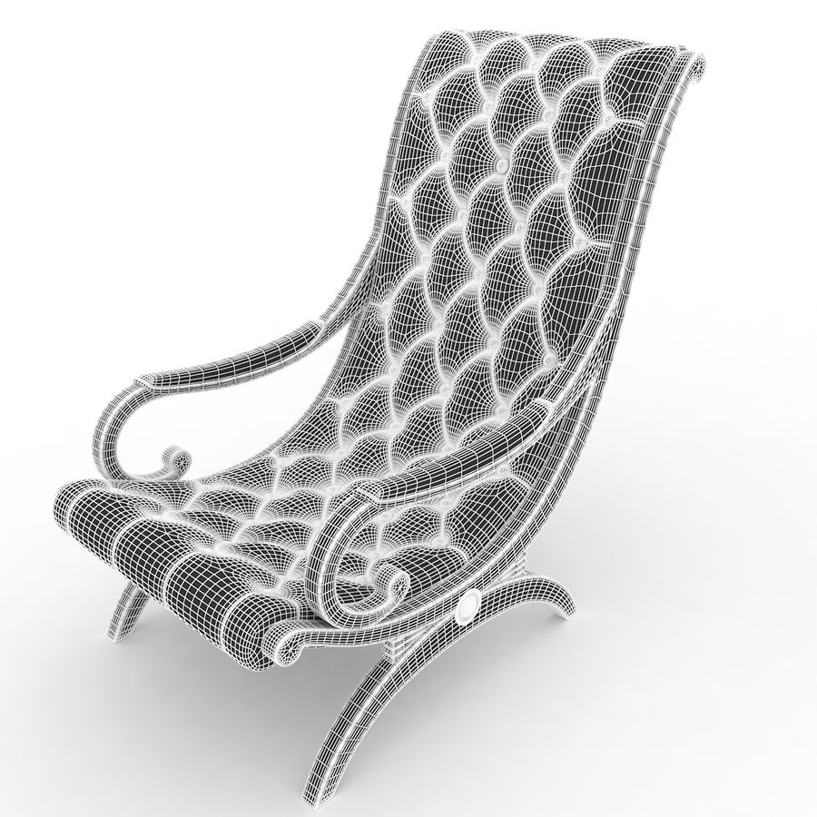 fauteuils royalty-free 3d model - Preview no. 5