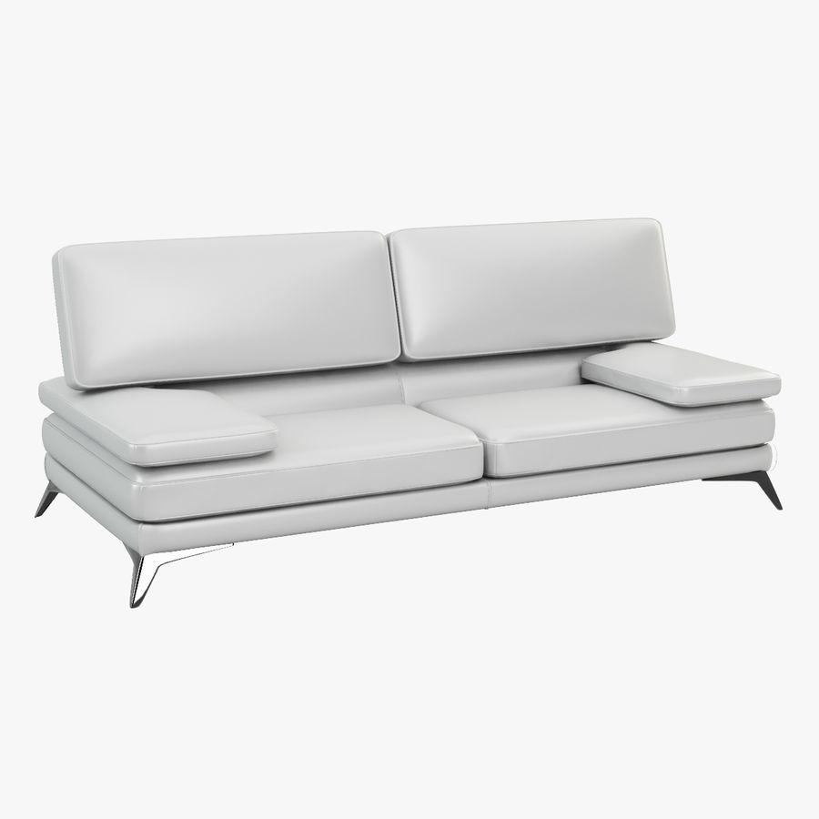 doblado sofá con costuras royalty-free modelo 3d - Preview no. 2