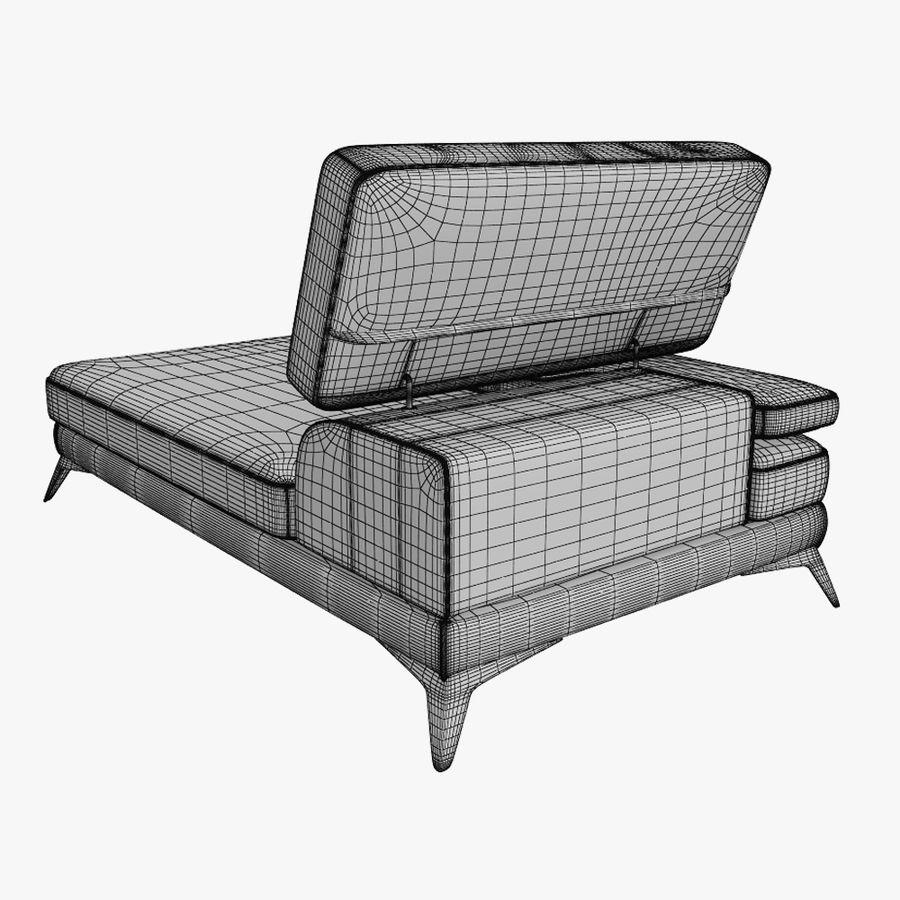 doblado sofá con costuras royalty-free modelo 3d - Preview no. 14