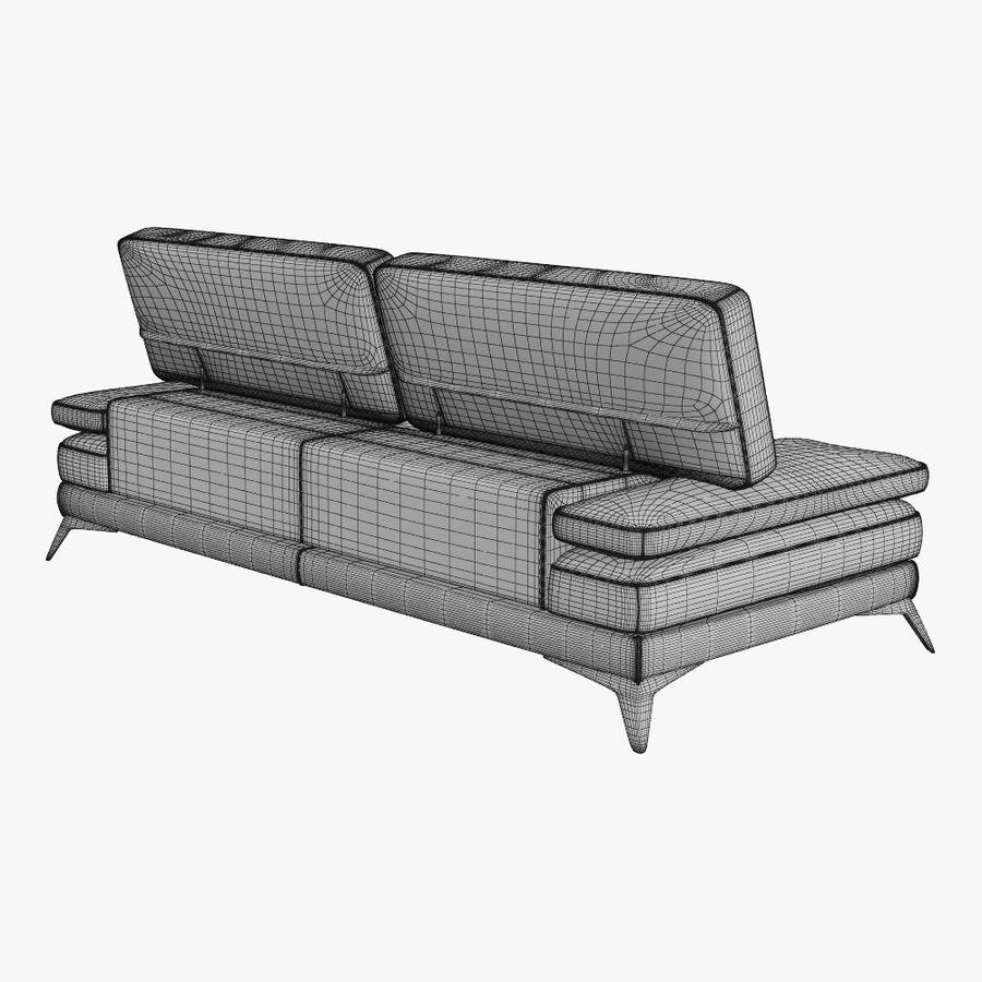 doblado sofá con costuras royalty-free modelo 3d - Preview no. 17