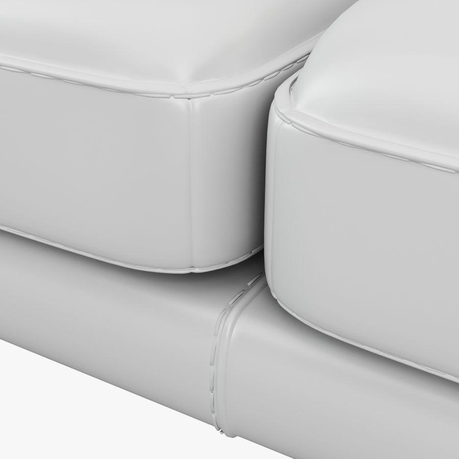 doblado sofá con costuras royalty-free modelo 3d - Preview no. 4