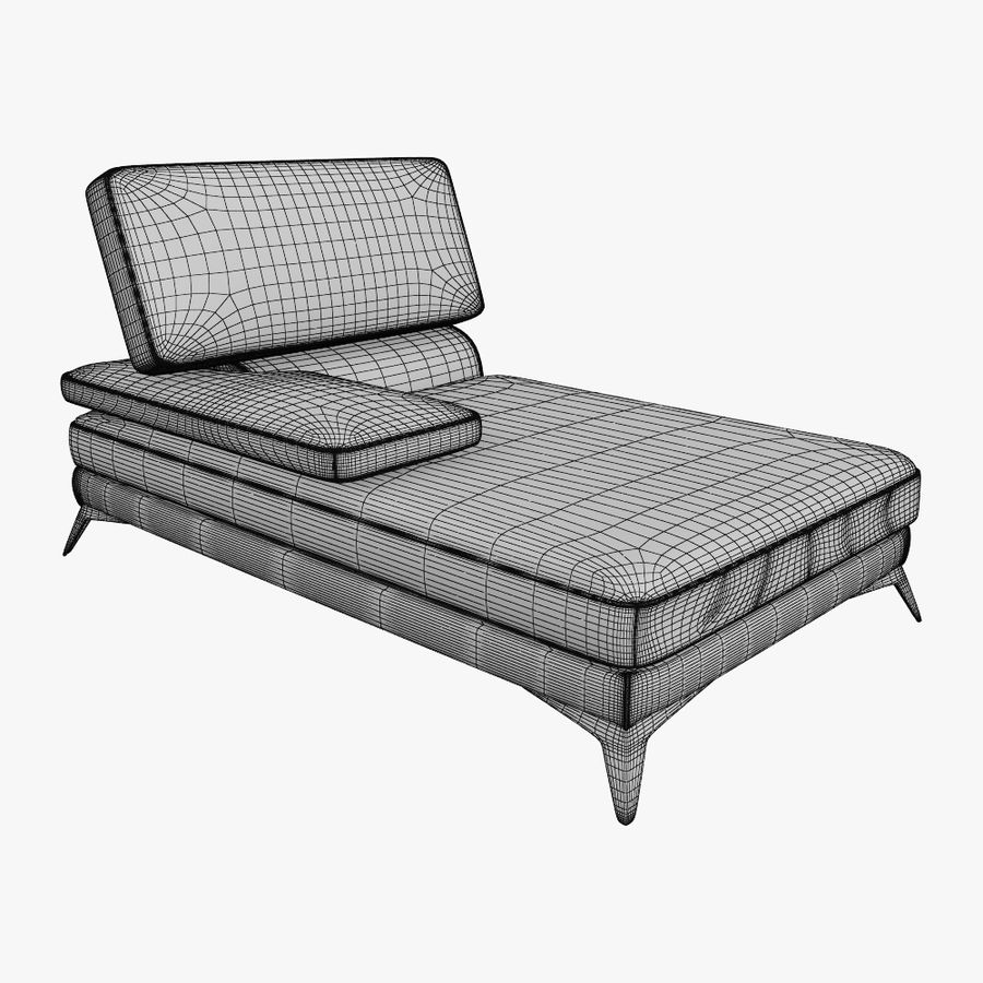 doblado sofá con costuras royalty-free modelo 3d - Preview no. 13