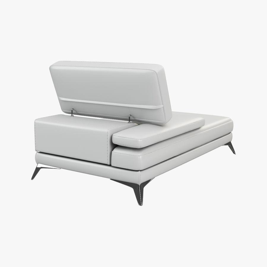 doblado sofá con costuras royalty-free modelo 3d - Preview no. 6