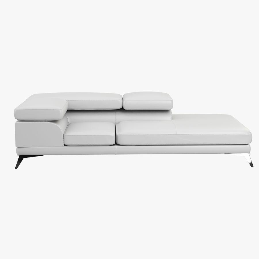 doblado sofá con costuras royalty-free modelo 3d - Preview no. 7