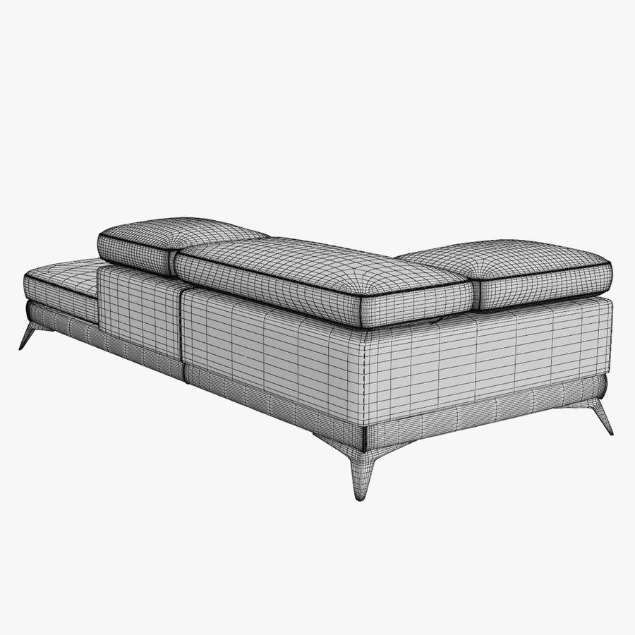 doblado sofá con costuras royalty-free modelo 3d - Preview no. 12