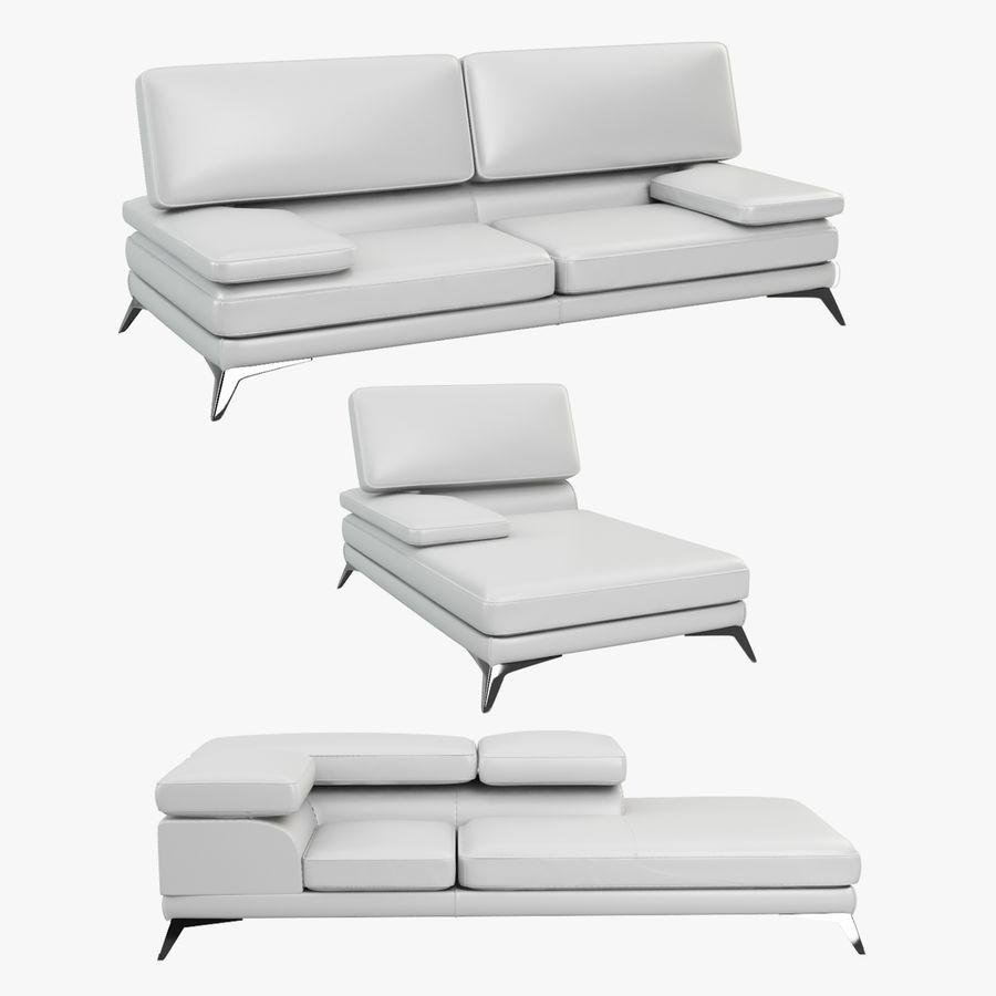doblado sofá con costuras royalty-free modelo 3d - Preview no. 1