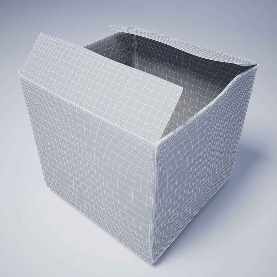 Cardboard Box royalty-free 3d model - Preview no. 5
