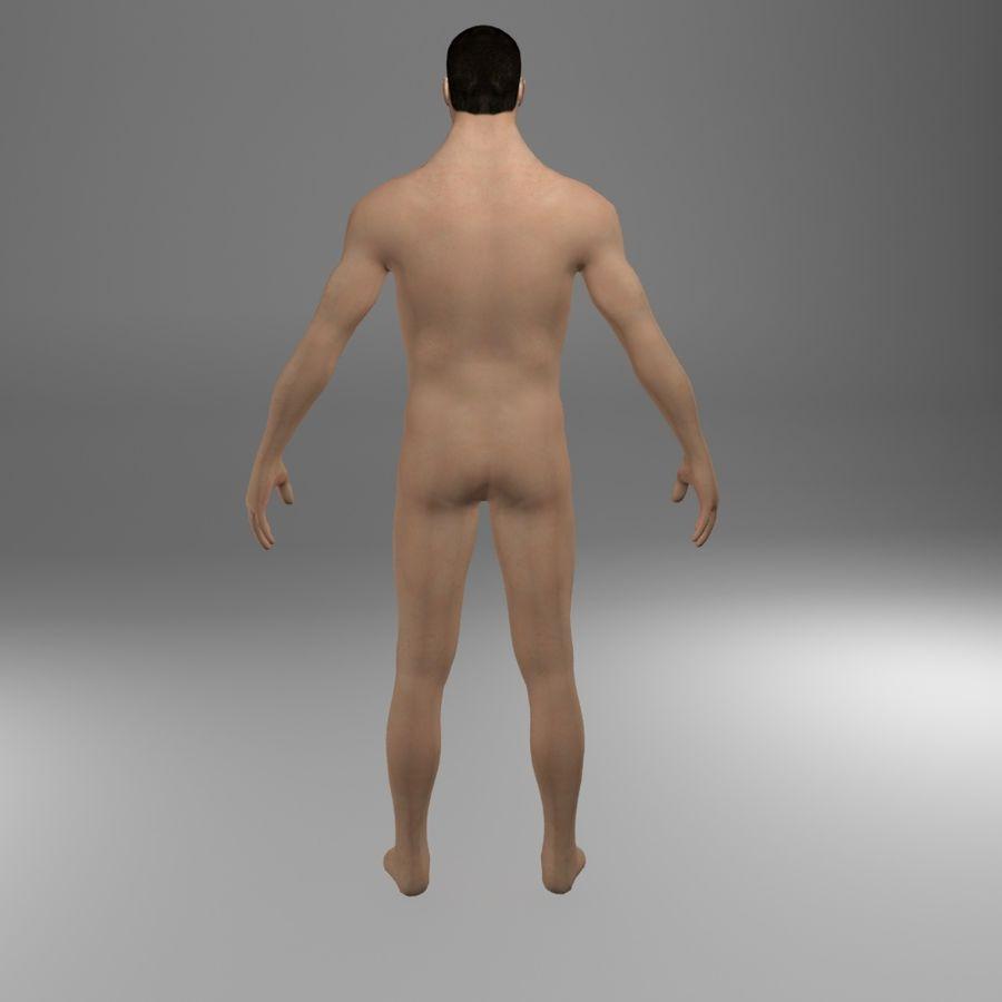 Ciało męskie Low Poly royalty-free 3d model - Preview no. 3