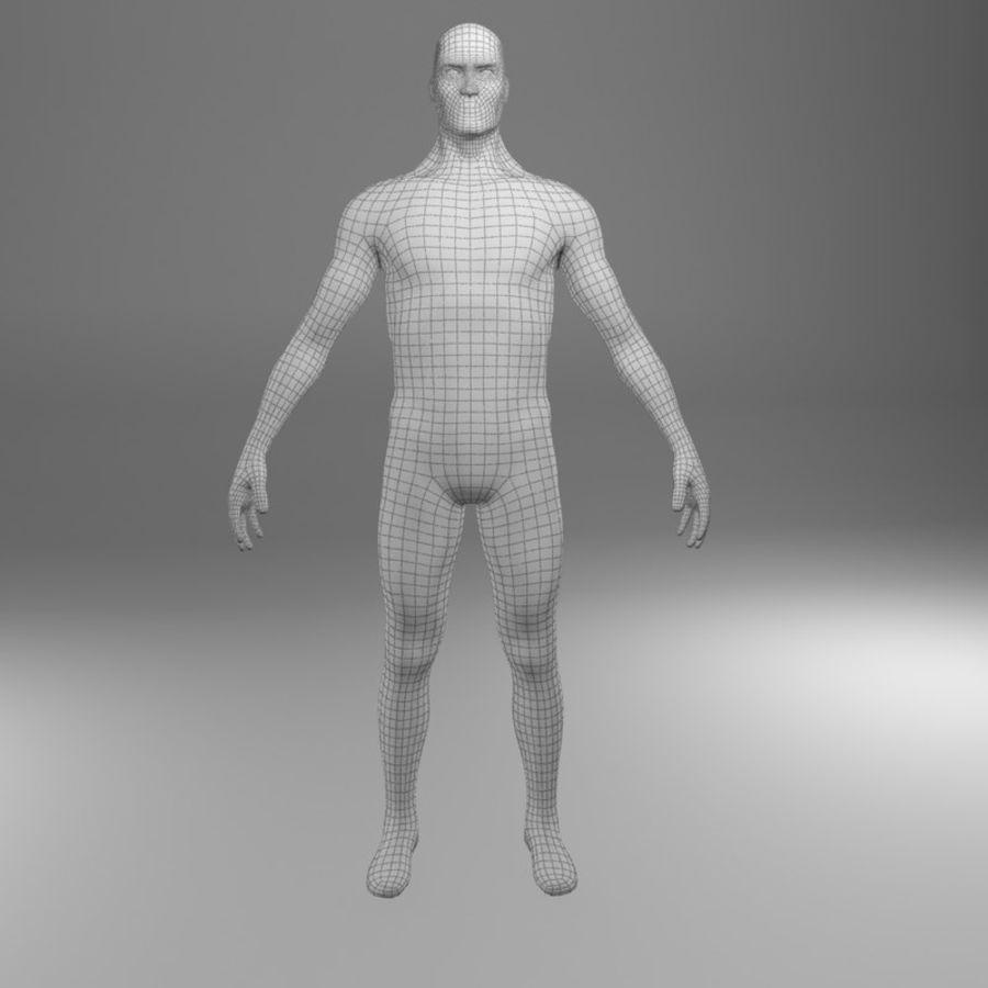 Ciało męskie Low Poly royalty-free 3d model - Preview no. 6