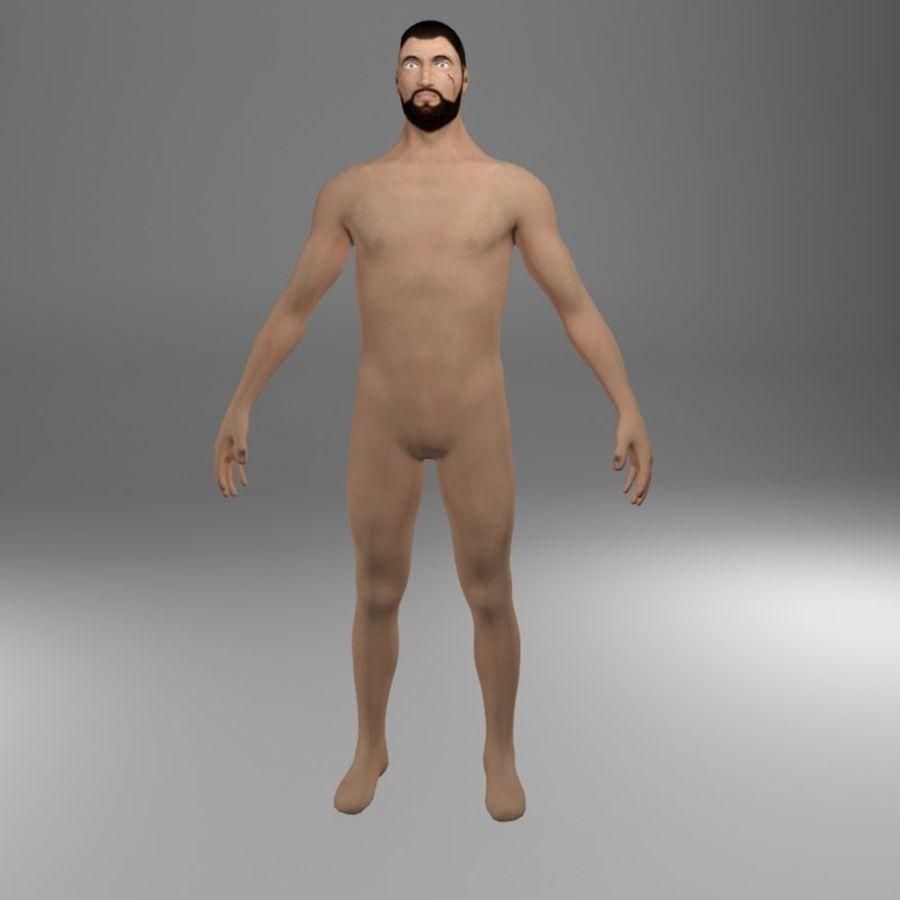 Ciało męskie Low Poly royalty-free 3d model - Preview no. 2