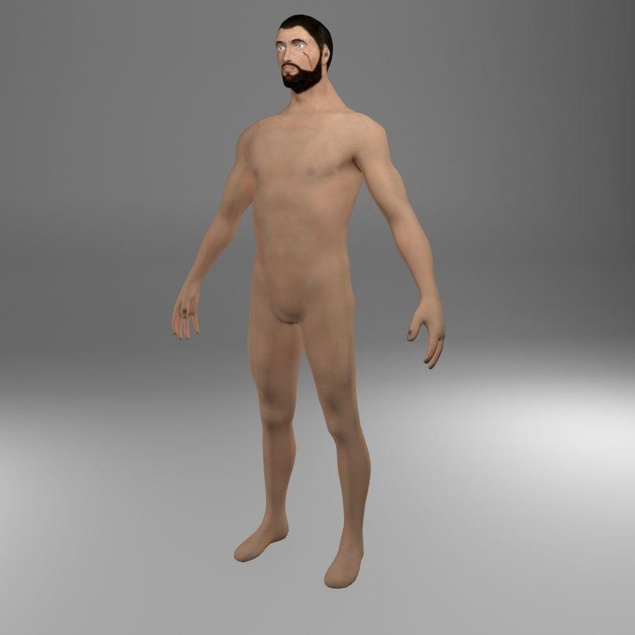 Ciało męskie Low Poly royalty-free 3d model - Preview no. 1
