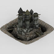 Terkedilmiş kale 3d model