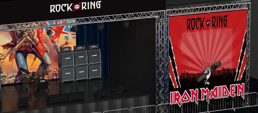 ミュージックステージ royalty-free 3d model - Preview no. 5