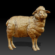 Sheep Statue (Highpoly) 3d model