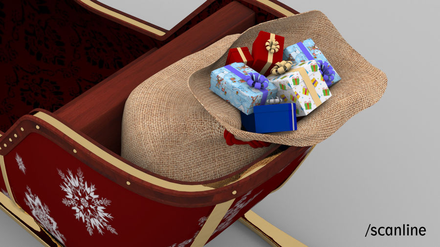 Trineo de santa royalty-free modelo 3d - Preview no. 16