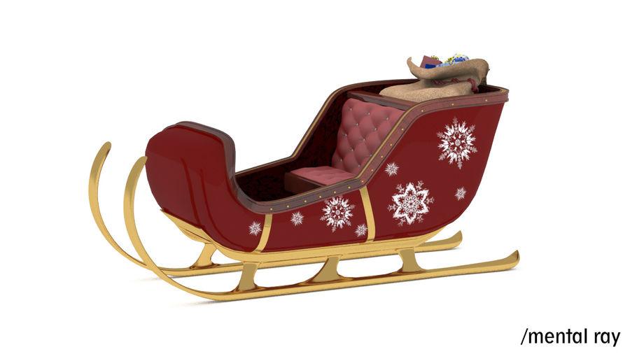 Trineo de santa royalty-free modelo 3d - Preview no. 10