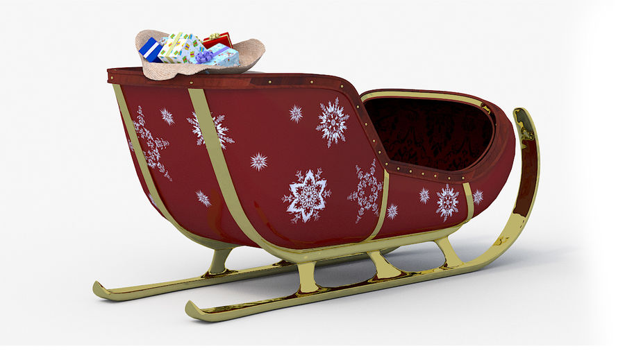 Trineo de santa royalty-free modelo 3d - Preview no. 3