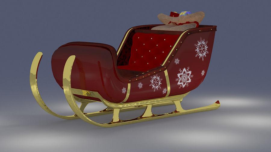Trineo de santa royalty-free modelo 3d - Preview no. 7