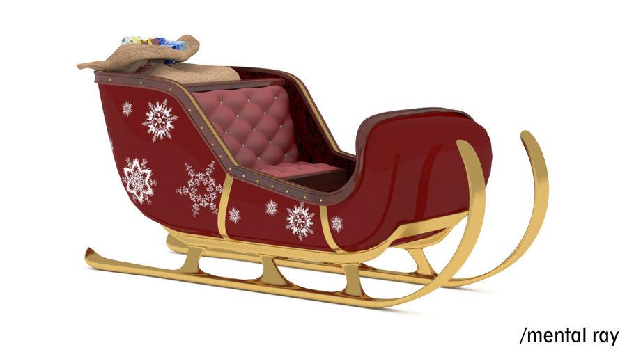 Trineo de santa royalty-free modelo 3d - Preview no. 11