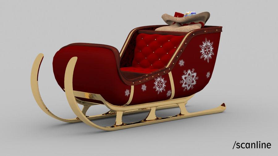 Trineo de santa royalty-free modelo 3d - Preview no. 14