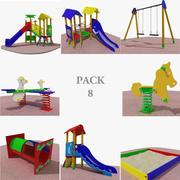 Pack de terrain de jeu 3d model