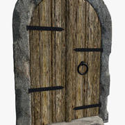 porta della cantina 3d model