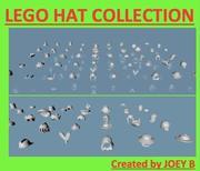 Kolekcja czapek LEGO 50 sztuk 3d model