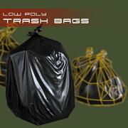 Trash bags 3d model