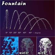 Fountain splash 3d model