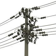 linhas de energia 3d model