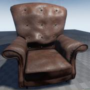 Yıpranmış Deri Koltuk 3d model