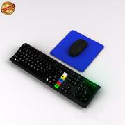 电脑键盘n鼠标 3d model